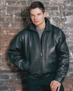 Chinese Lambskin Leather Bomber Jacket