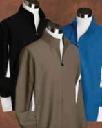 Pebble Beach Men's Brushed Microfiber Full Zip Color Block Jacke