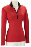 Ladies New School 1/4 Zip Pullover